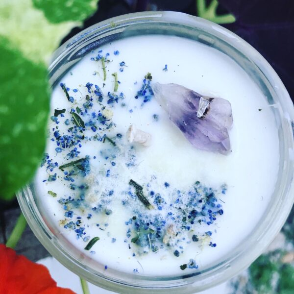 full moon happiness intention candle